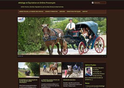 Site vitrine créé avec WordPress pour une école d'attelage et d'équitation de la Drôme