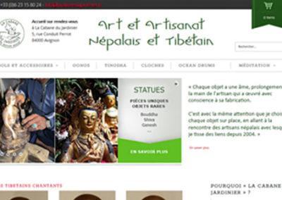 Boutique en ligne, sites vitrines, webmarketing et P.A.O. pour La Cabane du Jardinier à Avignon