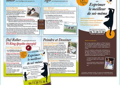 Affiche et dépliant carré réalisés pour une association d'Avignon