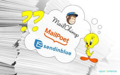 Comment choisir entre MailPoet, MailChimp et Sendinblue pour votre Newsletter?