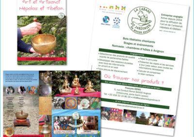 Plaquette de présentation : dépliant format A5 pour La Cabane du Jardinier