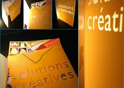 Design produit : conception et réalisation graphique d'un portfolio en polypropylène translucide