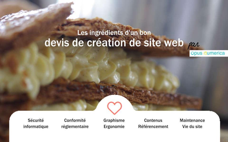 Comment est construit un devis de création de site web