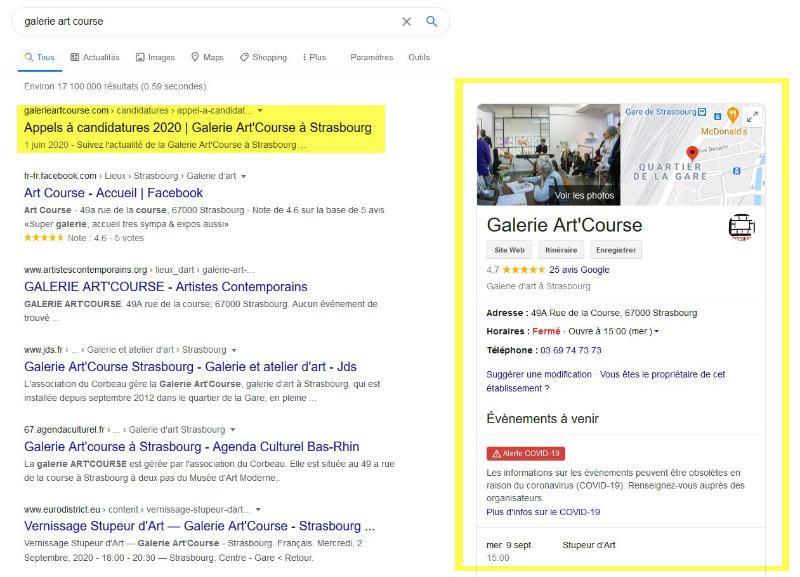 """Résultats de recherche Google pour """"galerie art course"""""""