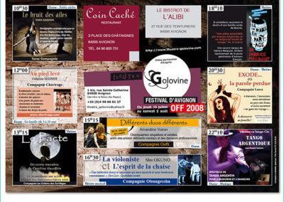 Création d'un set de table promotionnel pour le festival d'Avignon