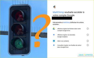 Lier MailChimp et Google Analytics: faut-il autoriser MailChimp à accéder à Google Drive?