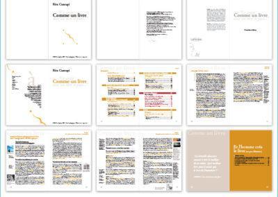 Création d'un dossier broché sur le livre et le supports numériques des savoirs (projet personnel)