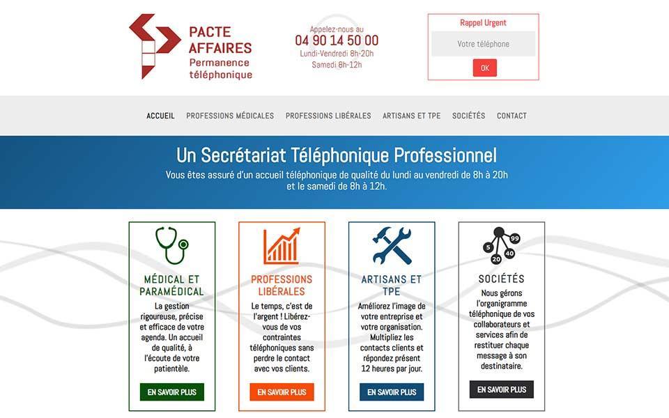 Site web pour un centre d'appels téléphonique et conseil RGPD