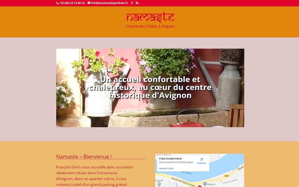 Site web pour des chambres d'hôtes à Avignon