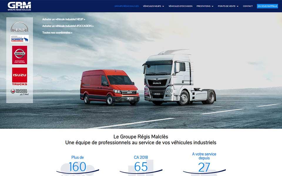 Site web et stratégie de référencement pour un professionnel du transport