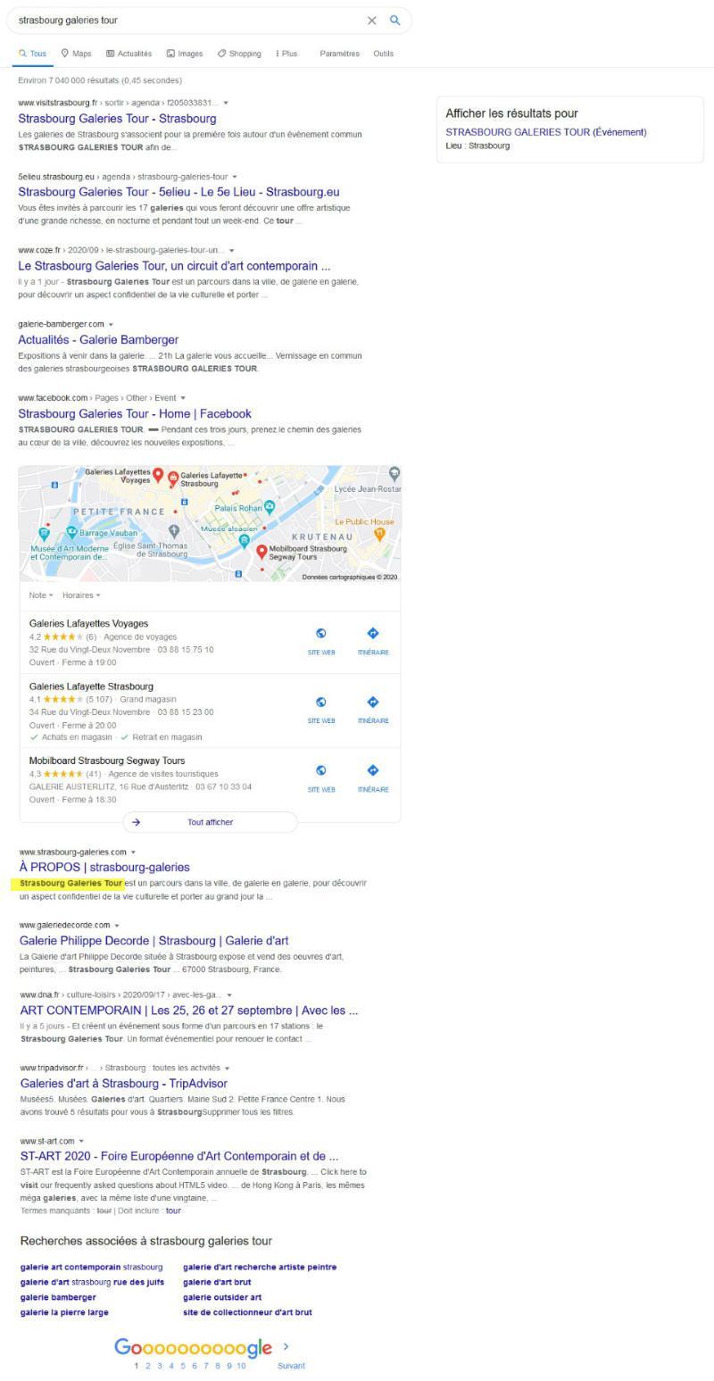 """Résultats de recherche sur Google pour """"strasbourg galeries tour"""""""