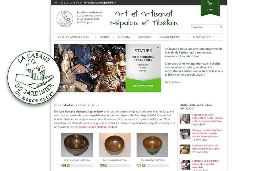 Site e-commerce et stratégie webmarketing pour un site de vente en ligne d'artisanat