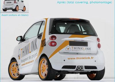 Graphisme de total covering pour publicité sur véhicule